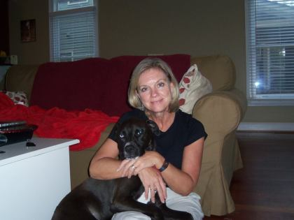 Mom love her granddog grandchild