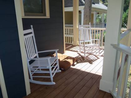 The rocking chairs are the perfect addition to our porch...thanks Mom & Dad!